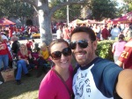 Volunteer Victoria and now-hubby Miguel at the Rose Bowl