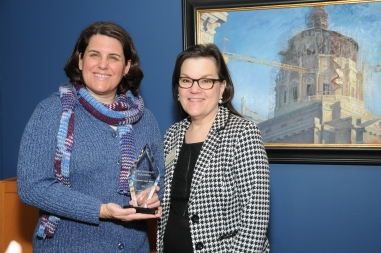 JRP Director Melanie Goodyear and PMH Executive Director Jeannette O'Malley. Photo by Jim Staub.