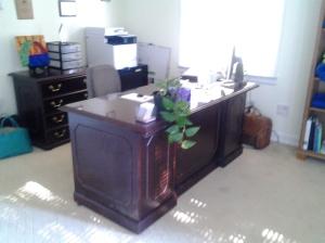 Melanie's desk
